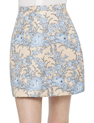 Backbeat Brocade A Skirt