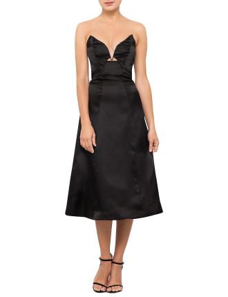 Seer Marble Strapless Plunge Dress