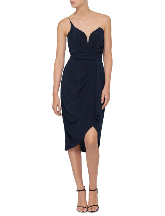 Silk One Shoulder Dress