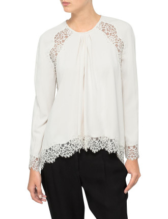 Crepe Lace Swing Top