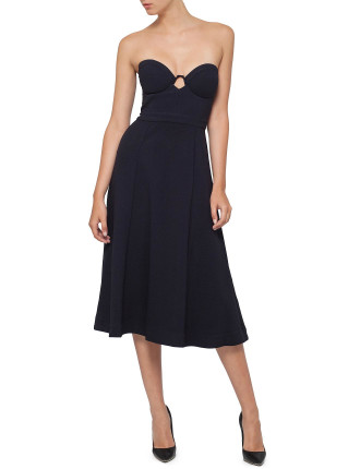 Tarot Crepe Strapless Dress