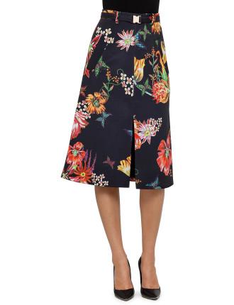 Bonded A Line Split Skirt