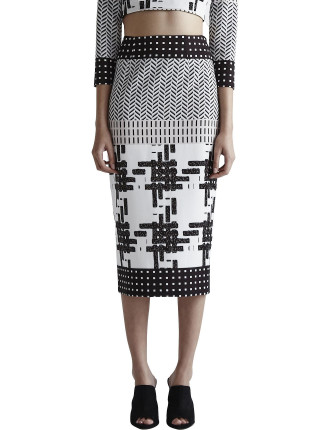 Aspen Midi Pencil Skirt