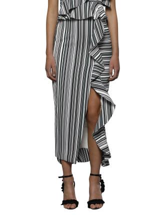Maja Frill Split Skirt