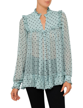 Whitewave Bib Blouse
