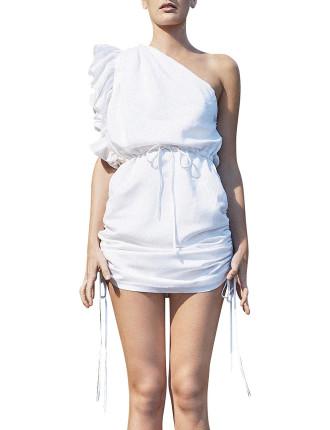 One Shoulder D.String Mini Dress