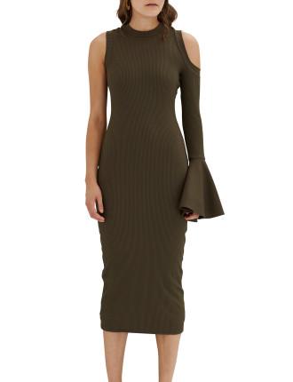 Bow Back Flare Pencil Dress