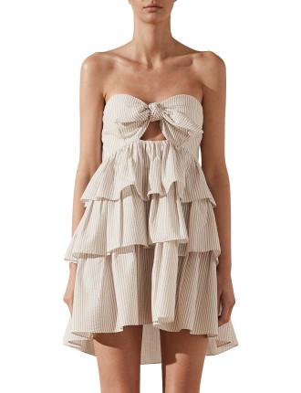 Sabbia Tie Front Tiered Mini Dress