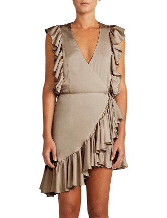 Zephyr Ruffle Wrap Mini Dress