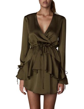 Tie Sleeve D/String Mini Dress