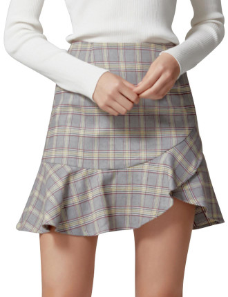 Misty Check Skirt