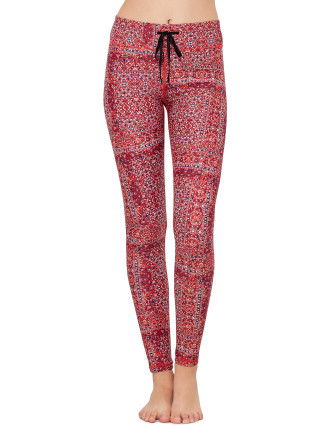 Red Paisley Yoga Pant