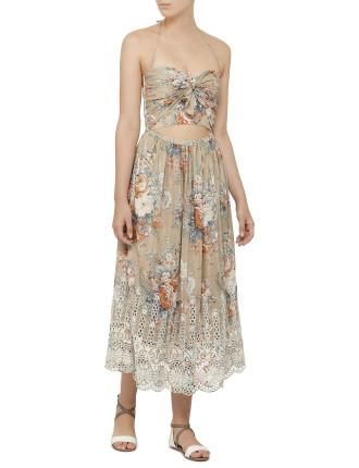 Anais Antique Floral Tie Dress