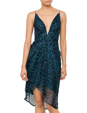 Esplanade Plunge Tuck Dress