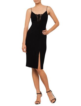 Crepe Barid Split Dress