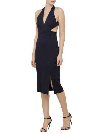 N-Nicholas Wrap Halter Dress