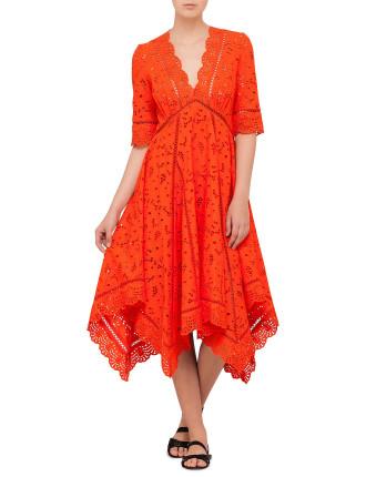 Marisol Eyelet Broderie Dress