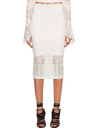 Marvel Lace Midi Skirt