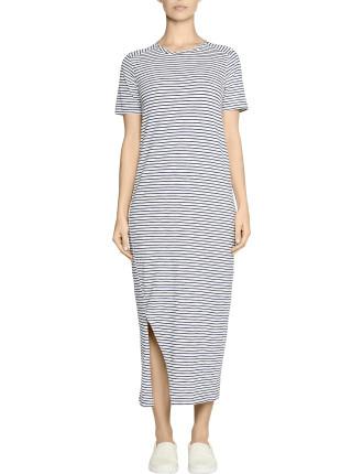 Belgrano Dress Denim Stripe Tank Dress