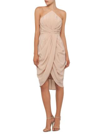 Silk Tuck Dress