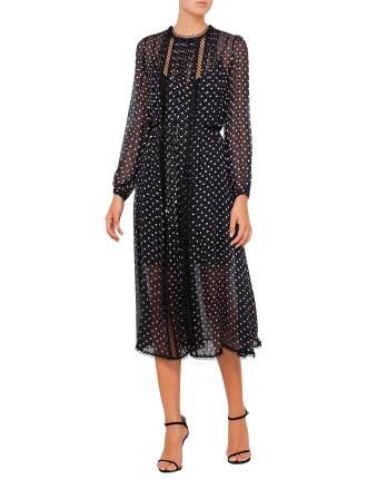 Havoc Picot Dot Dress
