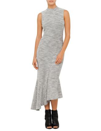 Terry Fit Flare Midi Dress