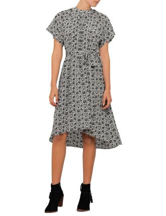 Silk Smock Dress