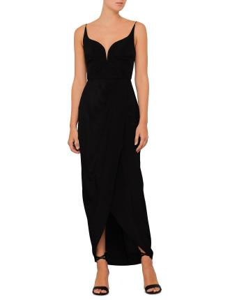 Silk Drape Long Dress