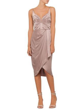 Sueded Drape Dress