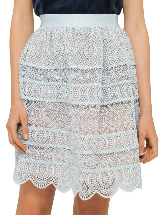 Adorn Embroidered Bell Mini Skirt