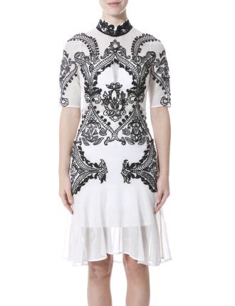 Embroidered Mandolin Dress