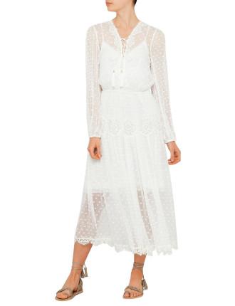 Oleander Lattice Dress