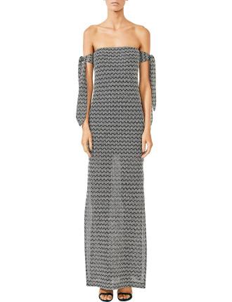 Danglars Strapless Midi Dress