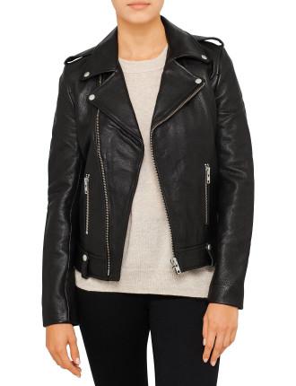 Minimalist Biker Jacket (Pebbled)