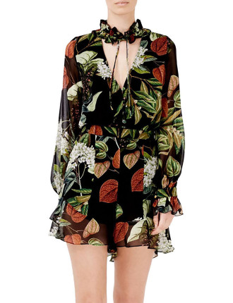 Sabine Floral Ruffle Neck Playsuit