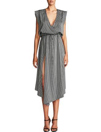 Mirage Drawstring Midi Dress