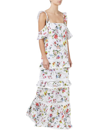 Daffodil Broderie Tiered Maxi Dress