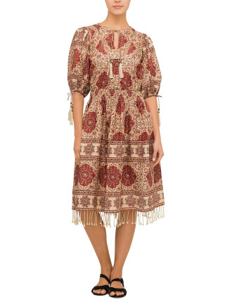 Tulsi Border Day Dress