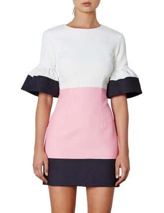 Borderline Mini Shift Dress