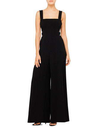 Stretch Crepe Buckle Jumpsuit