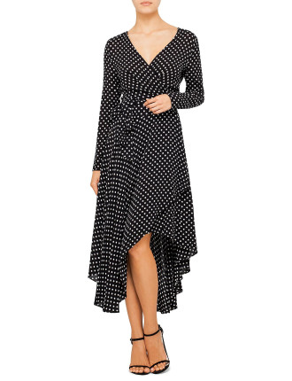 Stranded Wrap Dress