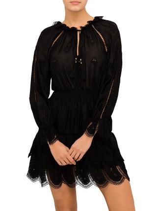 Tulsi Embroidered Mini Dress