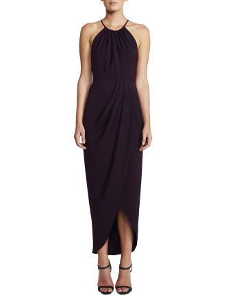 Core High Neck Ruched Dress