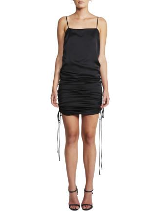 Ruched Slip Dress