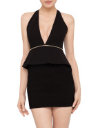 Christie Peplum Mini Dress $220.00