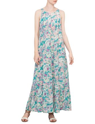 Celestial Sleeveless Loop Back Maxi Dress