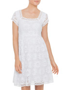 Corfu Cap Sleeve Lace Dress $299.00