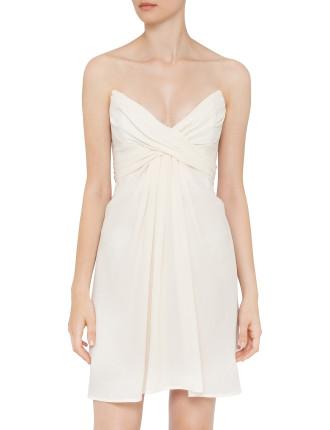 Silk Wrapped Short Dress