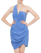Silk Assymetric Drape Dress $262.00 - $375.00