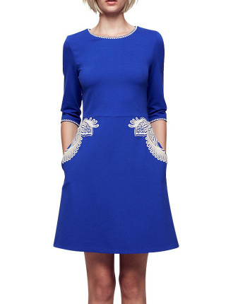 Cowgirl Dreams 3/4 Sleeve A Line Dress